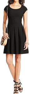 Diane von Furstenberg short dress Black Pleated Hollywood Date Night Holiday Fall on Tradesy