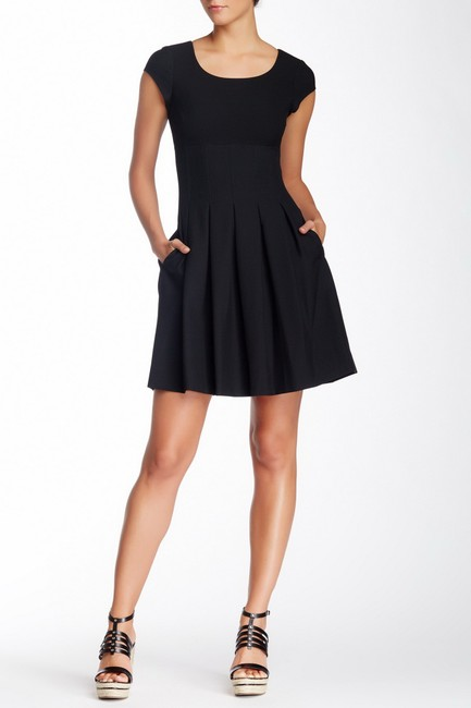 Diane von Furstenberg short dress Black Pleated Hollywood Date Night Holiday Fall on Tradesy Image 1