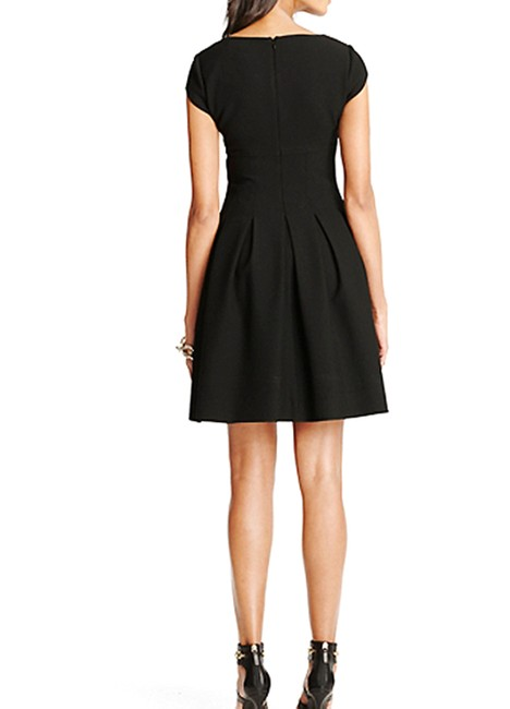 Diane von Furstenberg short dress Black Pleated Hollywood Date Night Holiday Fall on Tradesy Image 3