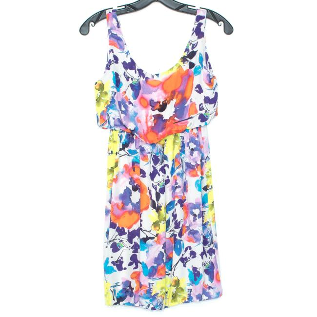 Alice + Olivia Silk Sleeveless Floral Dress Image 0
