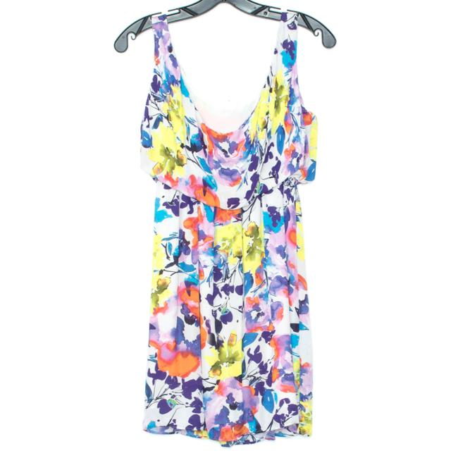 Alice + Olivia Silk Sleeveless Floral Dress Image 1