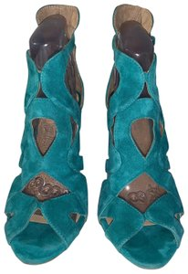 Zara teal green Sandals