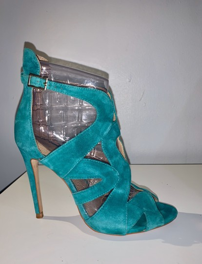 Zara teal green Sandals Image 1