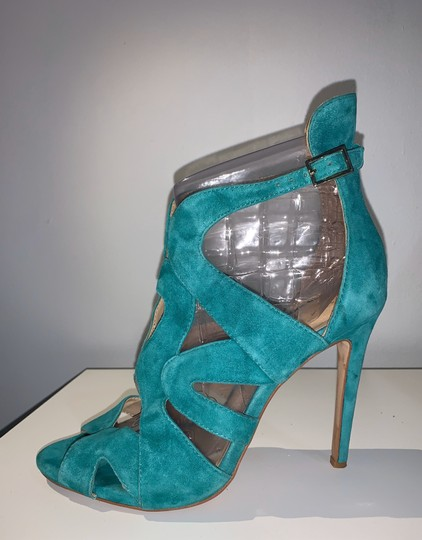 Zara teal green Sandals Image 2