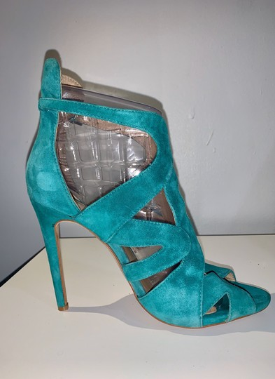Zara teal green Sandals Image 3