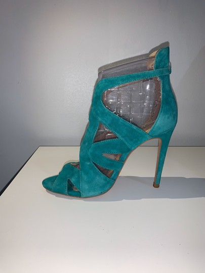 Zara teal green Sandals Image 4