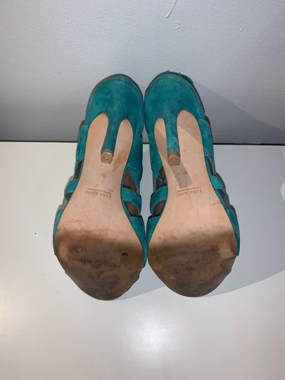 Zara teal green Sandals Image 7