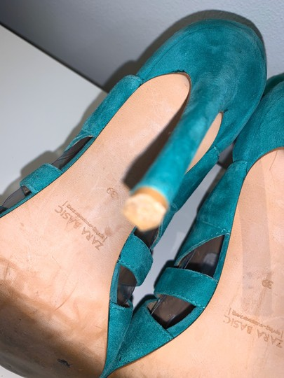Zara teal green Sandals Image 8