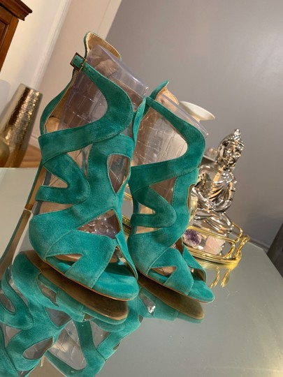 Zara teal green Sandals Image 9