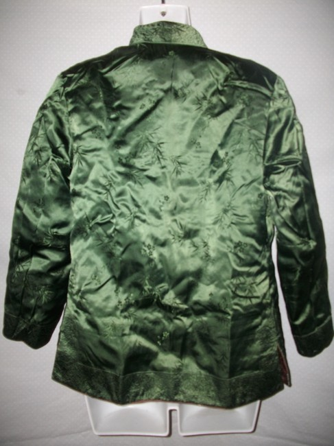 Other New Vintage Reversible Silk Embroidered Brown and Green Jacket Image 5