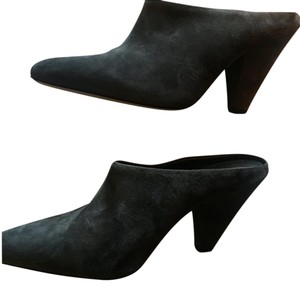 Vince Suede Wedge Emberly Wedge Gray Mules