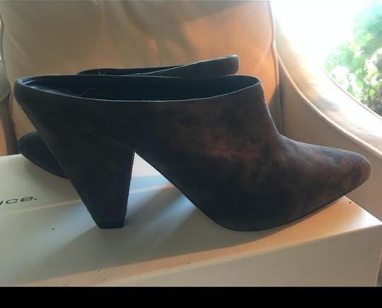 Vince Suede Wedge Emberly Wedge Gray Mules Image 1