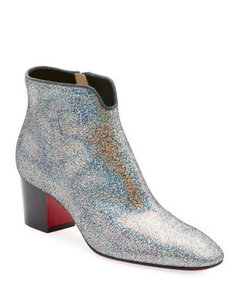 Christian Louboutin Ankle Disco Silver Boots