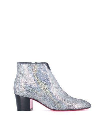Christian Louboutin Ankle Disco Silver Boots Image 10