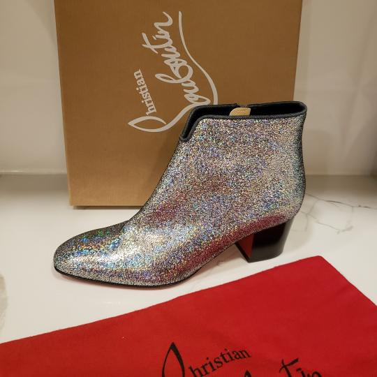 Christian Louboutin Ankle Disco Silver Boots Image 6