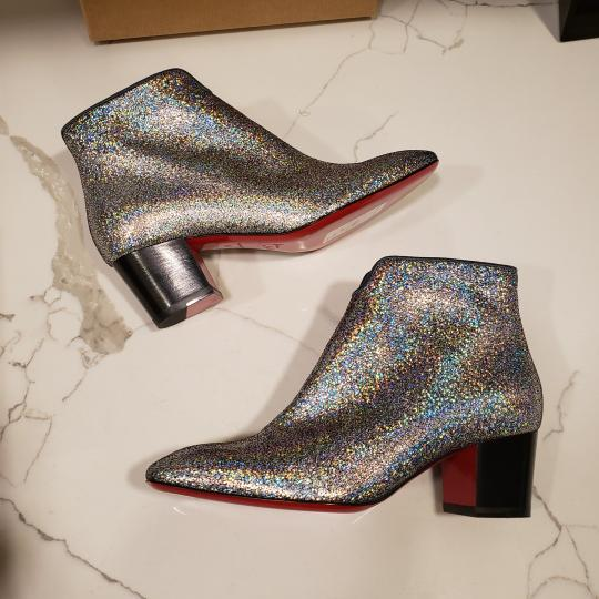 Christian Louboutin Ankle Disco Silver Boots Image 9
