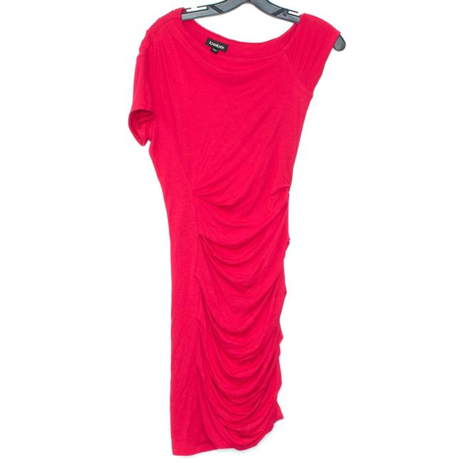 bebe Red Short Night Out Dress Size 6 (S) bebe Red Short Night Out Dress Size 6 (S) Image 1