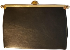 Ande' Mint Vintage Italian Workmanship Chain Strap Reversible Metallic black and gold Clutch