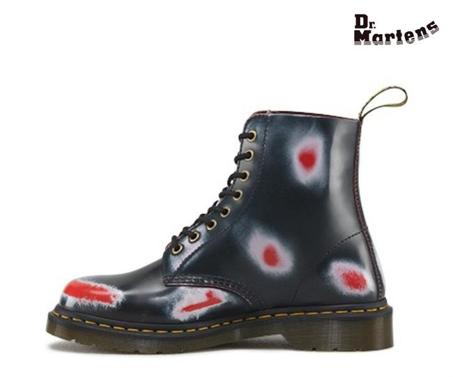 Item - Blue Pascal Navy White Red Rub Off Boots/Booties Size US 7 Regular (M, B)