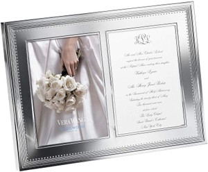 Silver By Grosgrain 5-inch By 7-inch Double Photo Frame