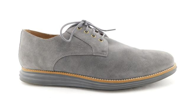 Item - Grey Suede Leather Lace Up Men's Oxfords Sneakers Shoes