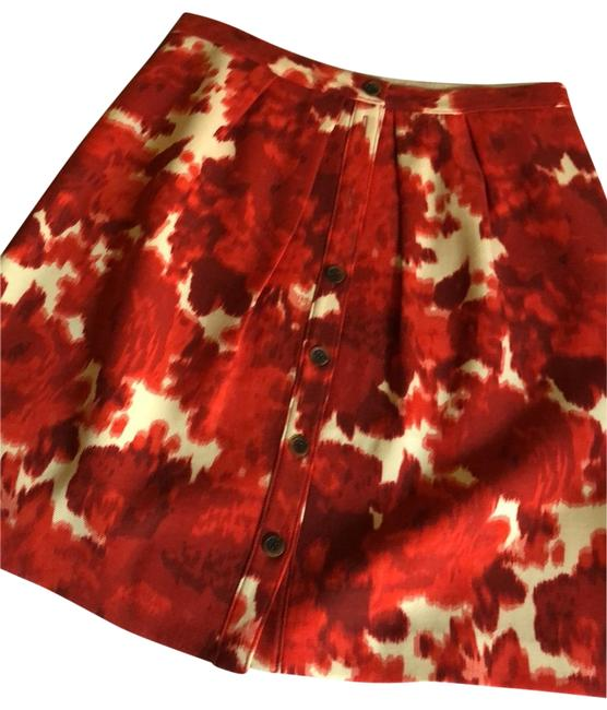 J.Crew Red and Beige. 49374 Skirt Size 14 (L, 34) J.Crew Red and Beige. 49374 Skirt Size 14 (L, 34) Image 1
