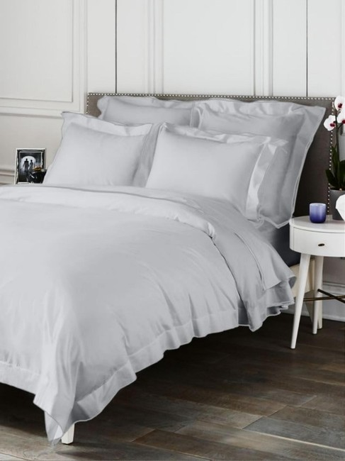 Item - Grey Made In Italy Butterfly Flange Duvet Cotton Other