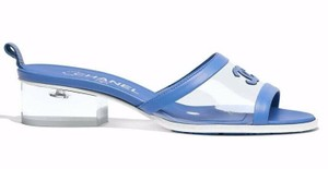 Chanel Chain Slide Slides blue Sandals