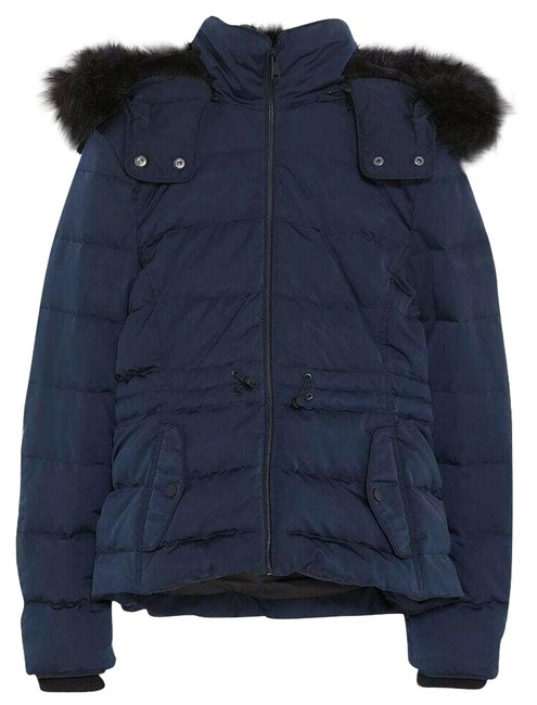 Item - Navy Blue New Down Puffer Winter Jacket Coat Size 4 (S)