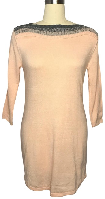 Item - Pink Gray Ny Co Sweater Mid-length Work/Office Dress Size 6 (S)