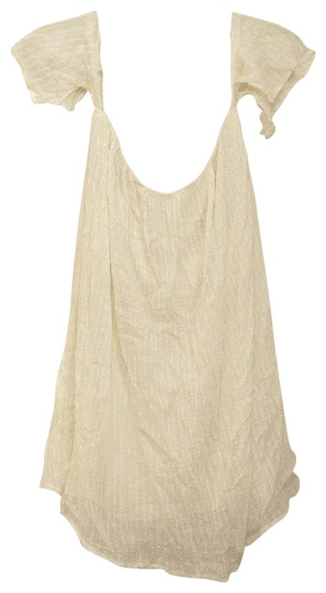 Item - White Off-the-shoulder Bohemian Short Casual Dress Size 4 (S)