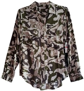 Sam & Lavi Shirt Tunic Long Sleeve Top New Camo Amo