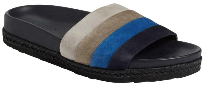 Item - Coastal Multi Alisa Striped Suede Slide Sandals Size US 9.5 Regular (M, B)