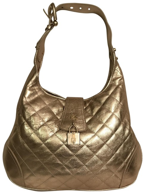 Item - Quilted Brooke Metallic Gold Leather Hobo Bag