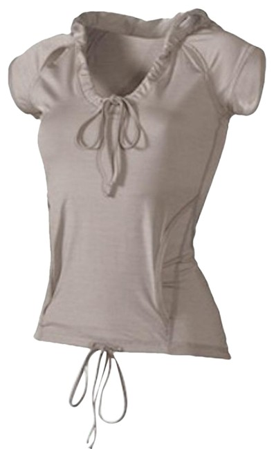 Item - Taupe Athletic with Oversized Hoodie Activewear Top Size 8 (M)