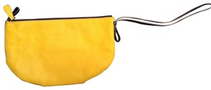 Miss Albright Leather Large Wristlet in Yellow