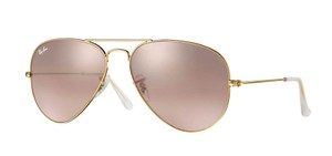Ray-Ban Ray-Ban Gold RB3025 001/3E Silver/Pink Mirror Lens Color Sunglasses