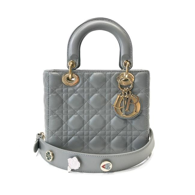Item - Christian My Lady Grey Lambskin Leather Shoulder Bag