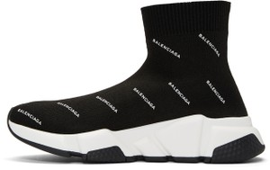 Balenciaga Sneakers Logo Trainers Speed black Athletic