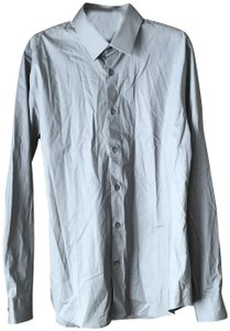 Express New With Tags Men's Large Extra Button Cotton/Spandex Machine Wash Button Down Shirt Grey