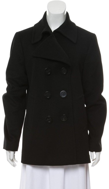 Item - Black Short Wool Coat Size 8 (M)
