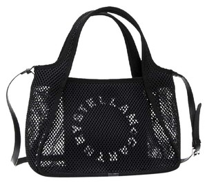 Stella McCartney Mesh Logo Tote Perforated Vegan Cross Body Bag