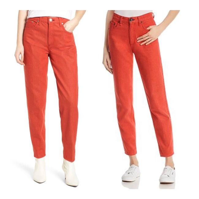 Item - Red Light Wash Rag&bone High Waist Red/Sz:27/Nwt Relaxed Fit Jeans Size 4 (S, 27)