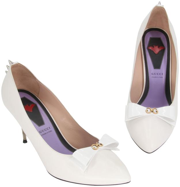 Item - White Classic Sadie Bow Spiked Studs Pointed-toe Pumps Size US 11 Regular (M, B)