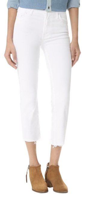 Item - White Insider Crop Step Fray Skinny Jeans Size 6 (S, 28)