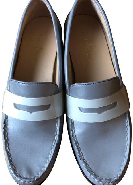 Item - Silver Monroe Reflective Penny Loafer Flats Size US 6 Regular (M, B)
