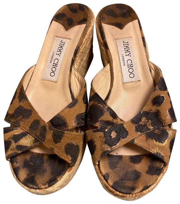 Item - Brown Animal Print Suede Espadrilles Wedges Size EU 36 (Approx. US 6) Regular (M, B)