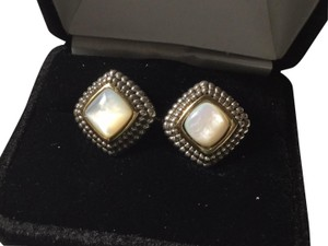 David Yurman new mother of pearl 14 kt .gold and sterling silver designer look