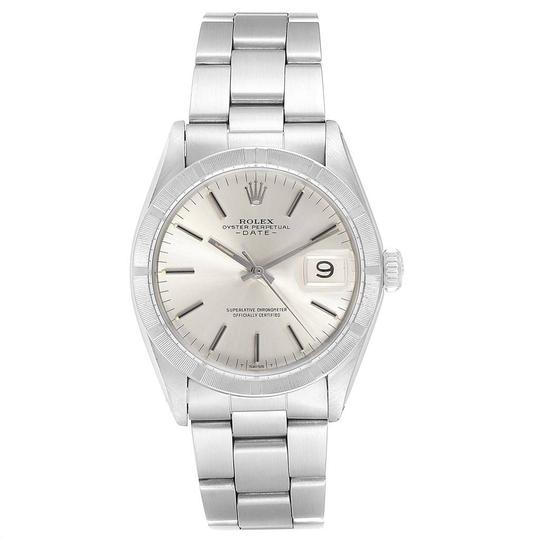 Rolex Rolex Date Vintage Silver Baton Dial Stainless Steel Mens Watch 1501 Image 1
