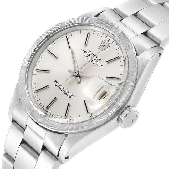 Rolex Rolex Date Vintage Silver Baton Dial Stainless Steel Mens Watch 1501 Image 4